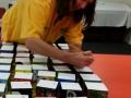 Anne numbering the blocks