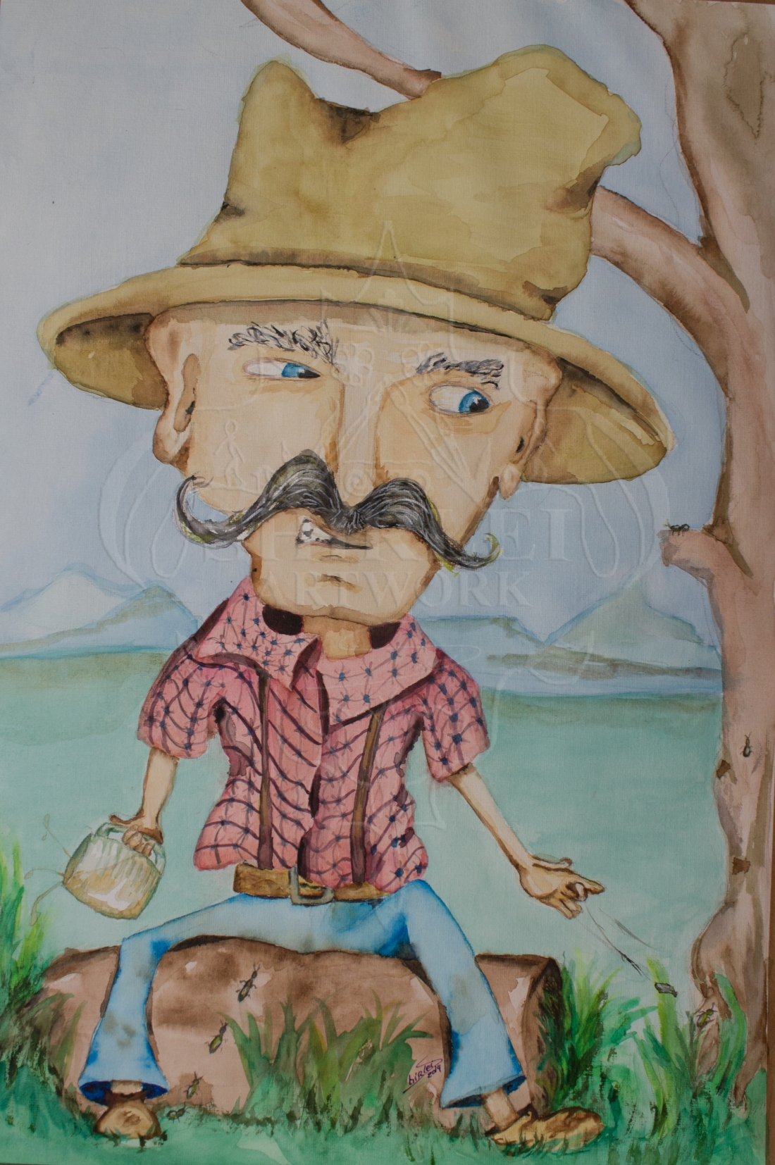 Cartoon Illustration – Bushman