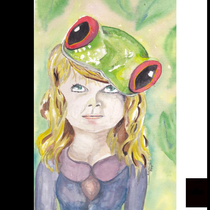 Character Illustration – frog hat