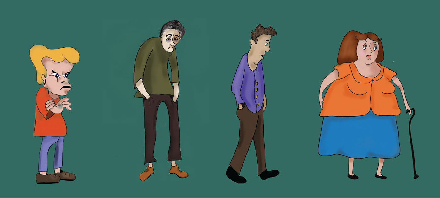 Custom Character Illustrations – for Client Journey
